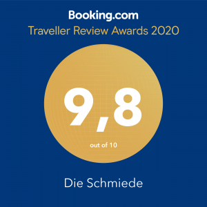 Booking.com Traveller Review Award 2020: 9,8 von 10 Punkten